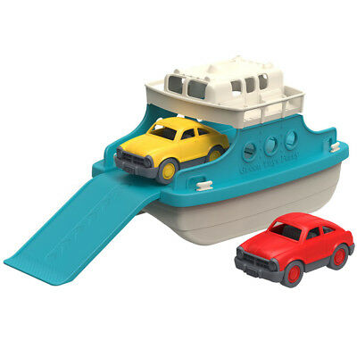 Green Toys Two Storey Ferry Boat with Two Toy Cars - Bath and Water Toys