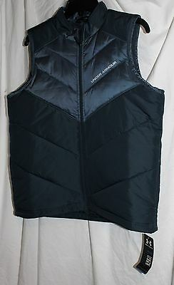 Nwt Under Armour Boy's Blue Youth Large Ua Loose Coldgear Outdoors Light Vest!