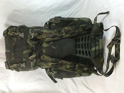 Large 90L Italian army surplus woodland camouflage rucksack  backpack with frame