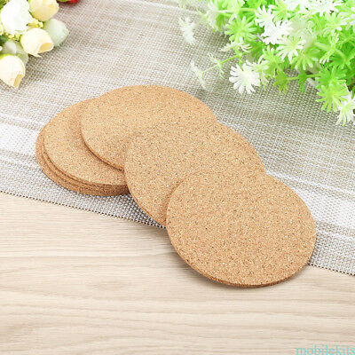 100pcs Round Cork Coasters Coffee Drink Tea Cup Mat Wine Tablemats NEWEST