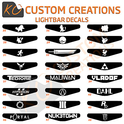 Playstation 4 Lightbar Decals custom and lots of designs ps4 controller stickers