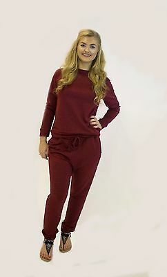 **Womens Ladies Gym Fitness Sports Plain Style Casual Tracksuit **