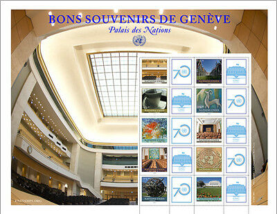 United Nations UN 2015 Greetings from Geneva Personalized Sheet Stamps