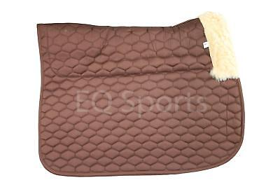 FAST P&P Quality Half Fleece Faux Sheepskin Saddlecloth Full Brown