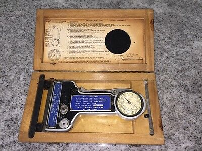 Vintage US Military Aircraft control cable TENSIOMETER Type C-8 in case