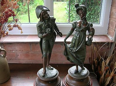 A fine pair of FRENCH SPELTER FIGURES
