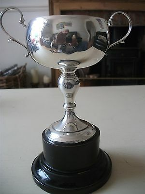Solid Silver Trophy HM London 1929 TANGLIN CLUB Singapore Mixed Doubles