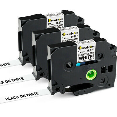 3PK TZ-231 TZe-231 Compatible for Brother P-touch Laminated Label Tape 12mm
