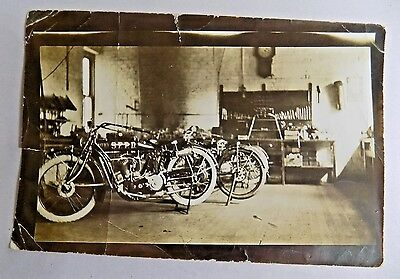 VINTAGE INDIAN MOTORCYCLE S.F.P.D Photograph
