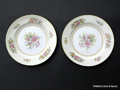"EMPIRE by NORITAKE FINE CHINA ~ 2 Bread & Butter Plates 6 1/4"" ~  OCCUPIED JAPAN"