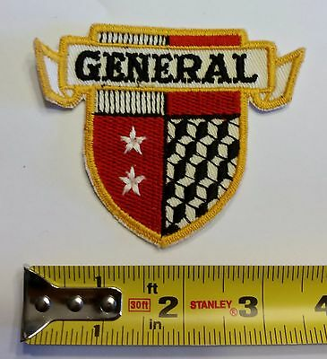 VINTAGE Embroidered Automotive Gasoline Patch (Original-UNUSED) GENERAL SHIELD