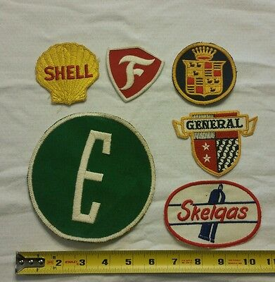 VINTAGE Embroidered Automotive Gasoline Patch (Original-UNUSED) LOT of 6