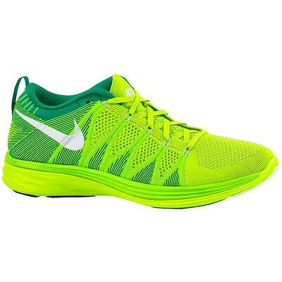 Nike Womens Flyknit Lunar 2 Running Shoes Hi Vis Trainers Volt Green Sizes 4-8