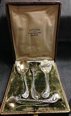 F. VEYRAT Paris Sterling Silver Hor D'oeuvres Boxed Set