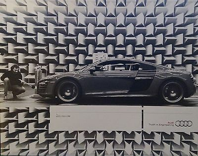 Audi full model range brochures - 2008, 2010, and 2015 including R8 and S5