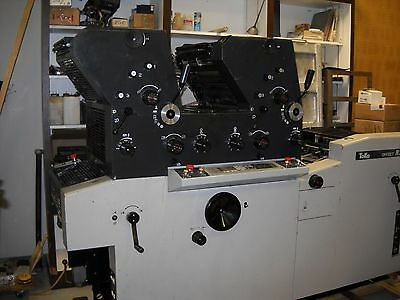 PRINTING PRESS-TWO COLOR, NEW WATER UNITS Priced to Sell GOOD CONDITION