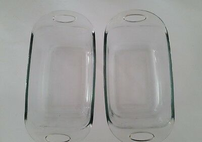 Anchor Hocking Ovenware Clear Glass Baking Pans 1.5 Qt (2 pans)