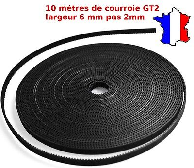10 mètres - Courroie GT2 ,largeur 6mm pas 2mm, imprimante 3D Printer Timing belt