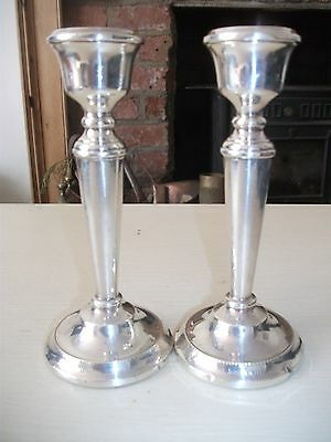 Pair of Vintage weighted solid silver Candlesticks HM BIR 1972 Maker ATC