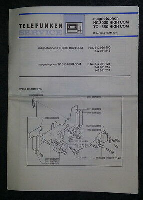 Telefunken Original Service Manual für HC 3000 / TC 650