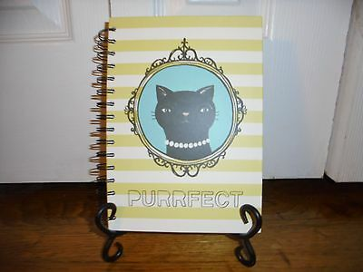NWT Cat Spiral Lined Page Hard Cover Notebook