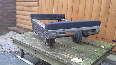 vintage wooden piano trolly (new reduced price)