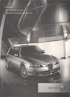 Alfa Romeo 147 Specification 2007 UK Market Brochure Turismo Lusso Q2