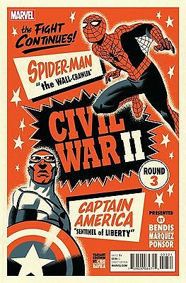 Marvel Civil War 2 Ii #3 Michael Cho Variant 1St Print Comic  2016