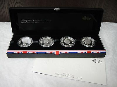 The 2013 Queen's Portrait Set Silver Proof 4 Coin Set
