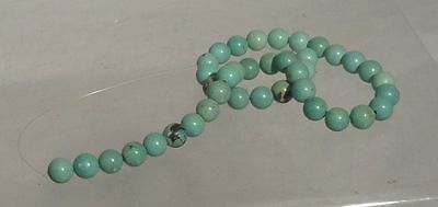 Antique Chinese Turquoise Beads Necklace 50.7 grams