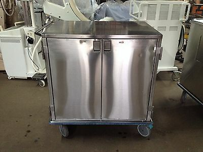 Stainless Steel Closed Case Cart 36L X 25W X 40H