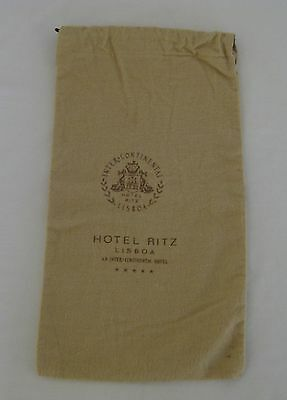 "Vintage Inter-Continental Hotel Ritz Lisboa Anti-tarnish Silver Bag 7""W x 13.5""H"