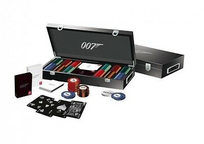 Rigid case of 300 tokens poker Luxury James Bond + cards 007 Luxury set 650260