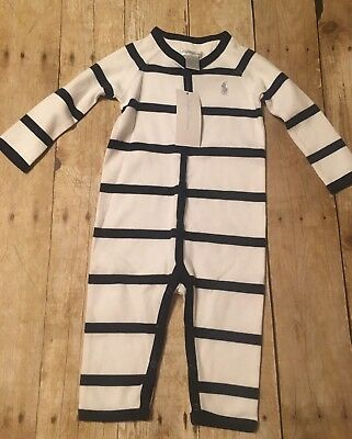Polo Ralph Lauren Baby Boys One Piece Snap Layette Size 6 months New