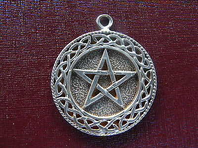 Magic Star Religious 925 Stering Silver Blessing Charm Medal Pendant