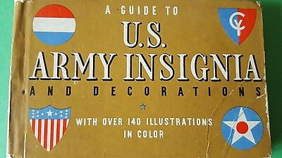 A Guide To The U.S. Army Insignia and Decorations - Vintage Book 1941
