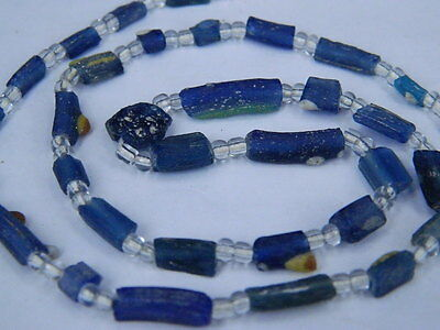 Ancient Roman C.200 BC Glass Fragment Beads STrand  ###I678###