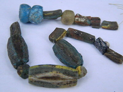 Ancient Roman C.200 BC Glass Fragment Beads STrand  ###I674###