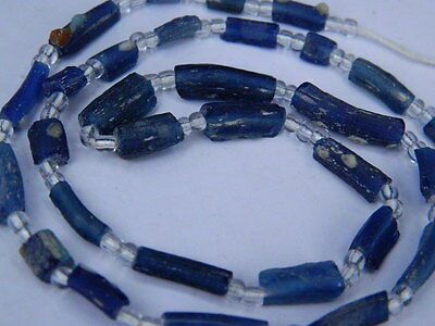 Ancient Roman C.200 BC Glass Fragment Beads STrand  ###I662###