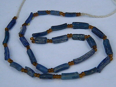 Ancient Roman C.200 BC Glass Fragment Beads STrand  ###I663###