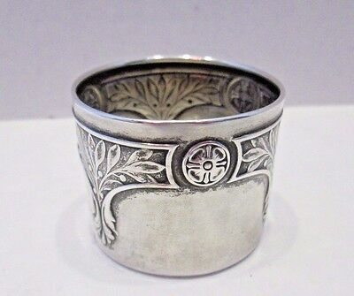 Vintage / Antique BEAUTIFUL 800 Solid Silver German Napkin Ring FULLY HALLMARKED