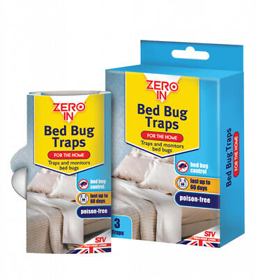 3 Pack Zero  In Bed Bug Trap Bugs Traps Killer  ZER967