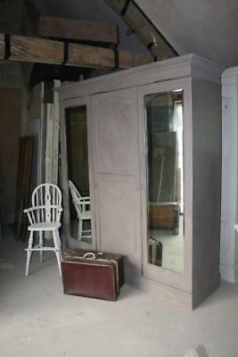 PAINTED VICTORIAN TRIPLE WARDROBE COMES APART. Couriers in listing