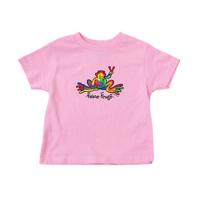 Peace Frogs  Toddler Retro Short Sleeve T-Shirt