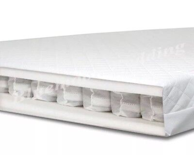 140 x 70 cm LUXURY POCKET SPRING BABY MATTRESS SPRUNG for COT BED COTBED. BD
