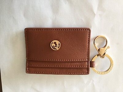 Spartina 449 Brown Leather Key Chain Card Holder New In Pkg