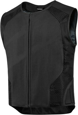 Icon Hypersport Stripped Leather Mesh Vest Powersports Motorcycle