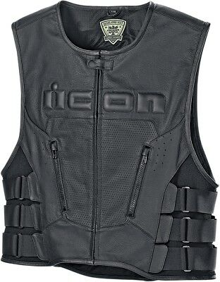 Icon Regulator D30 Leather Vest Powersports Motorcycle