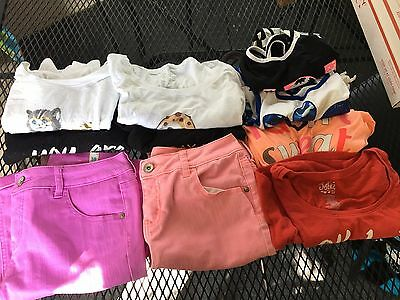 Lot of 10 Justice Girl's Clothing