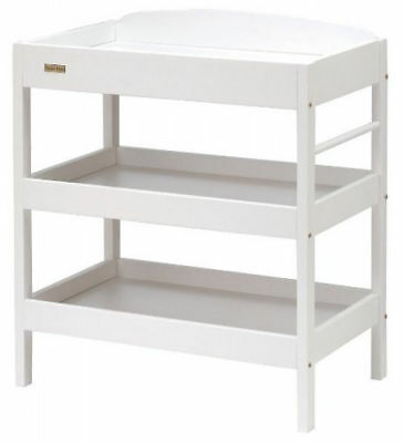 Changing Station Dresser Table Sturdy Changer w 2 Storage Shelves Towel Rail